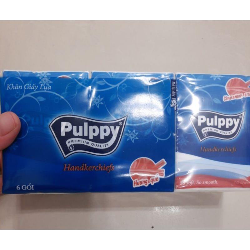 [Mã 267FMCGSALE giảm 8% đơn 500K] Khăn giấy Pulppy 6 gói