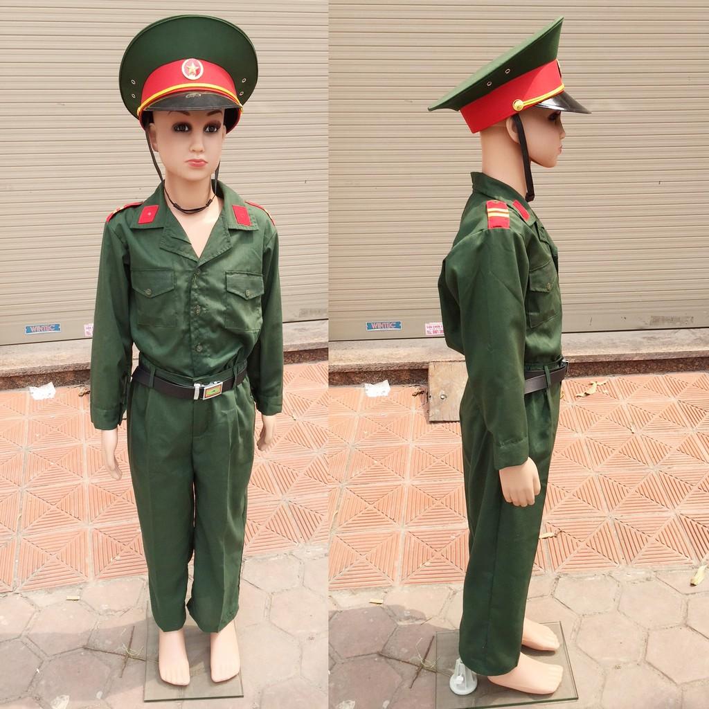 Bộ đồ bộ đội cho bé 3-6 tuổi