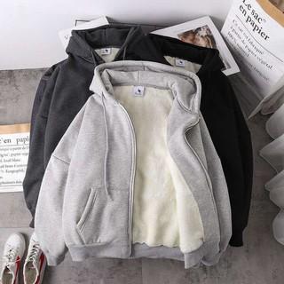 [CÓ SẴN] Áo khoác Hoodie Zip lót lông dày dặn siêu ấm thumbnail