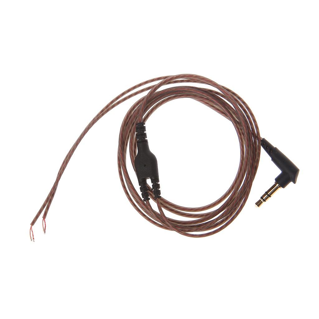 Dây cáp âm thanh đầu giắc cắm 3.5mm dùng cho làm tai nghe DIY chất lượng cao