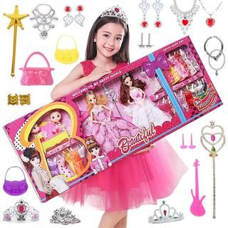 Bộ Đồ Chơi Búp Bê Barbie Công Chúa Và Quần Áo