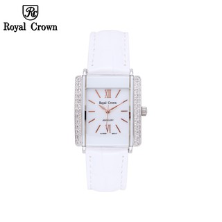 Đồng hồ nữ chính hãng Royal Crown 3645L dây da trắng thumbnail
