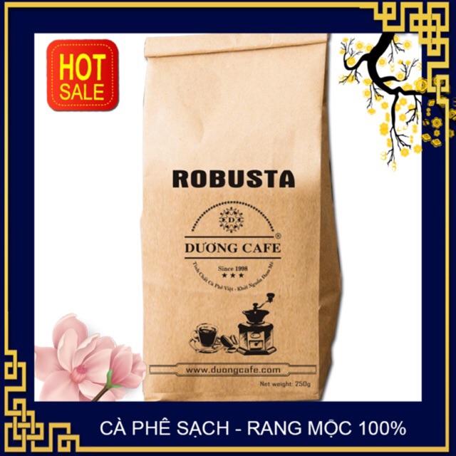 Cà phê Robusta - Cafe rang xay nguyên chất - cafe mộc 250G/gói - Dương cafe