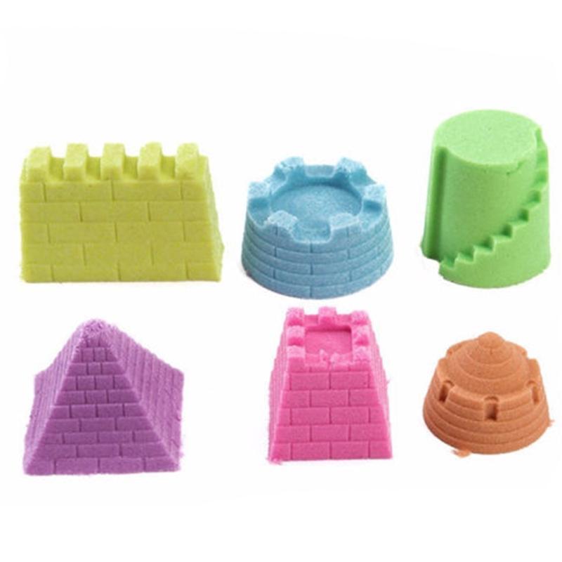 6 Pcs Model Kits Sand Clay Mold Kids Beach Pool Park Sand Castle Toy Set