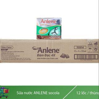 Thùng 48 hộp sữa nước anlene đậm đặc 4 chocolate hộp 110ml