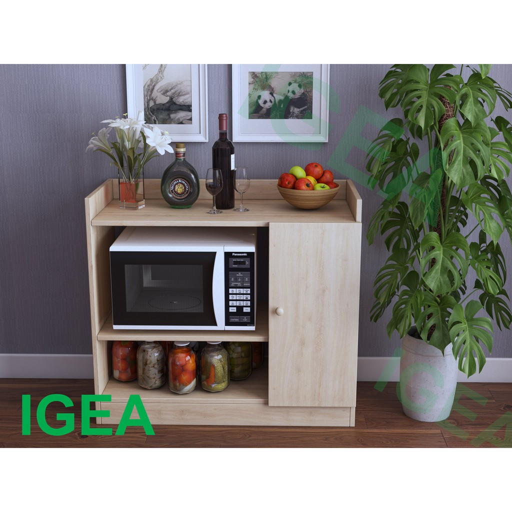[ SALE CỰC RẺ ] Tủ Nhà Bếp Gỗ 1 Cánh màu Vân Gỗ hiện đại- GP38.3