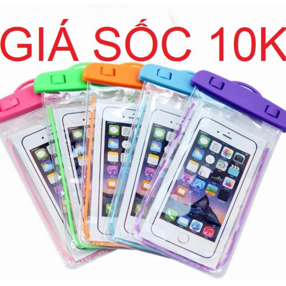 (GIÁ SỐC 10K)Túi chống nước cho điện thoại IP 5/6/6plus( nhiều