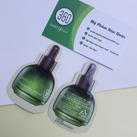 Tinh dầu trà xanh innisfree (gói 0,5ml)