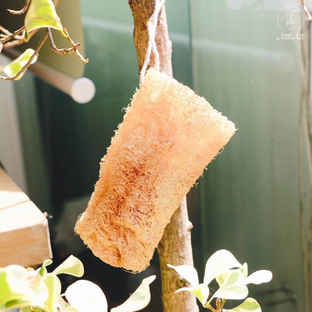 Bông tắm Xơ Mướp A Little Bit dùng tẩy tế bào chết cho da, rửa chén, đa năng, bảo vệ môi trường