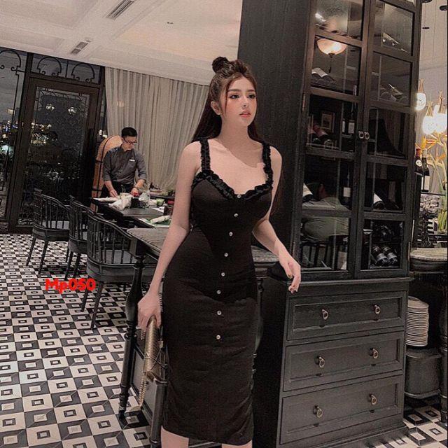 Đầm body bèo nhún