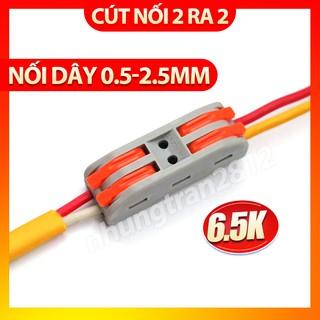 Cút nối dây điện nhanh PCT-222 2 cổng vào 2 ra – chịu tải 32A – dây tối đa 2,5mm