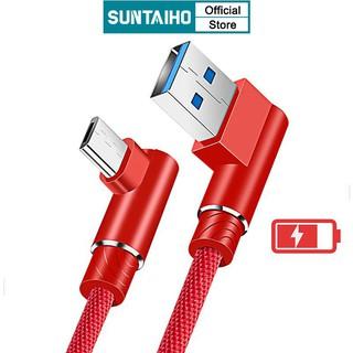 Suntaiho Cáp sạc nhanh Type C Micro USB 3A SUNTAIHO đầu cắm thiết kế 90 độ cho thiết bị Android