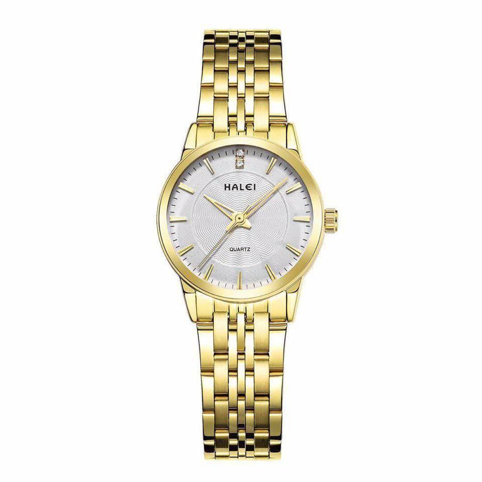 Đồng hồ nữ Halei HL167 mặt màu trắng chống nước