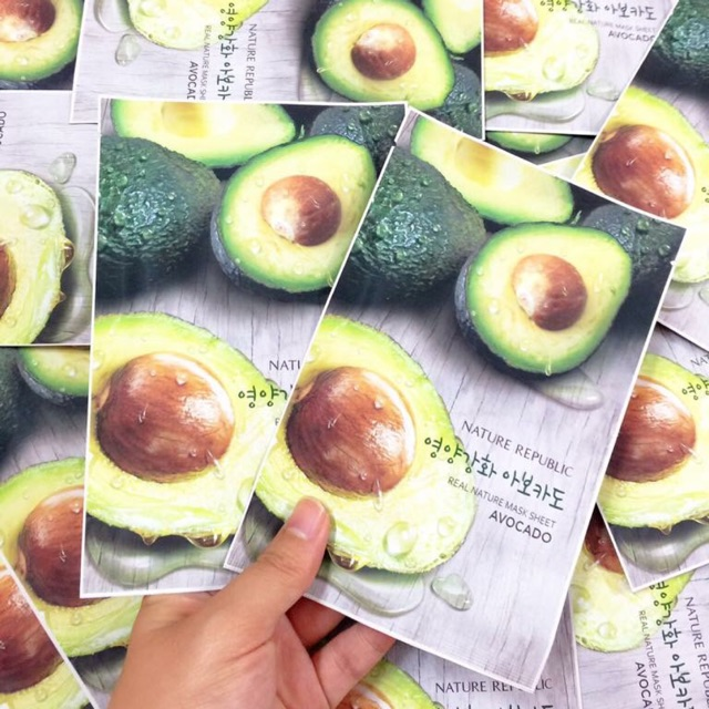 Mặt nạ Nature Republic Real Nature Avocado Mask Sheet