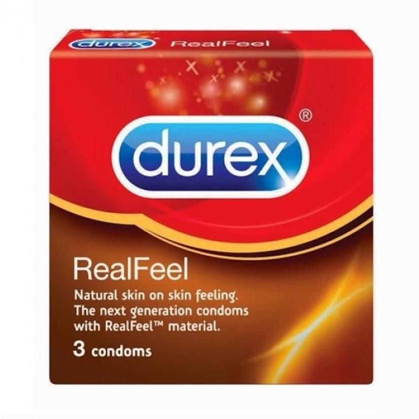 Bao cao su Durex Real Feel 3 gói.