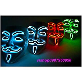 MẶT NẠ HÓA TRANG HACKER anonymous đèn led viền cao cấp chính hãng xịn