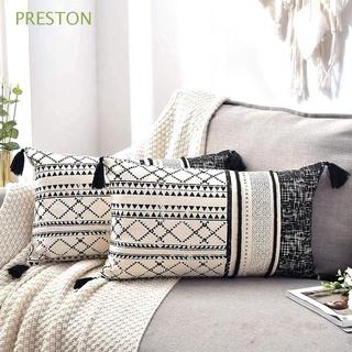 PRESTON Home Pillowcase Bed Tassel Pillow Sham Cushion Cover Sofa Bedroom Bohemian Couch Soft Decorative Throw Pillow Case
