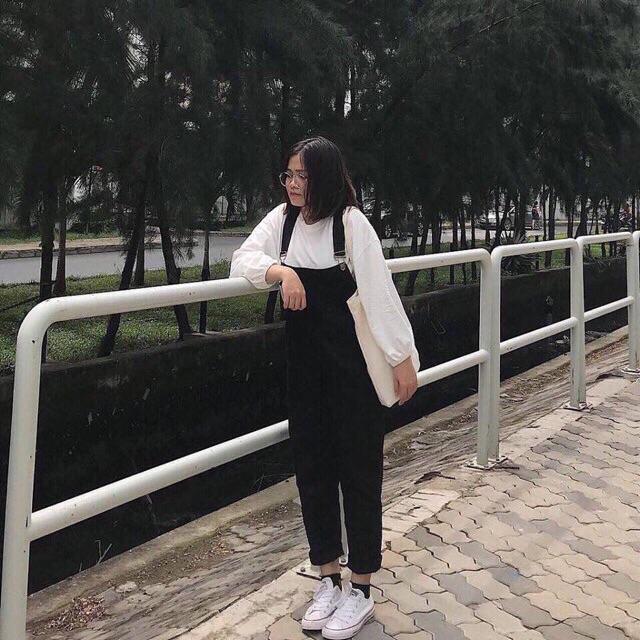 [TẶNG ÁO] Quần Yếm Kaki Unisex túi ngực đủ size nam nữ