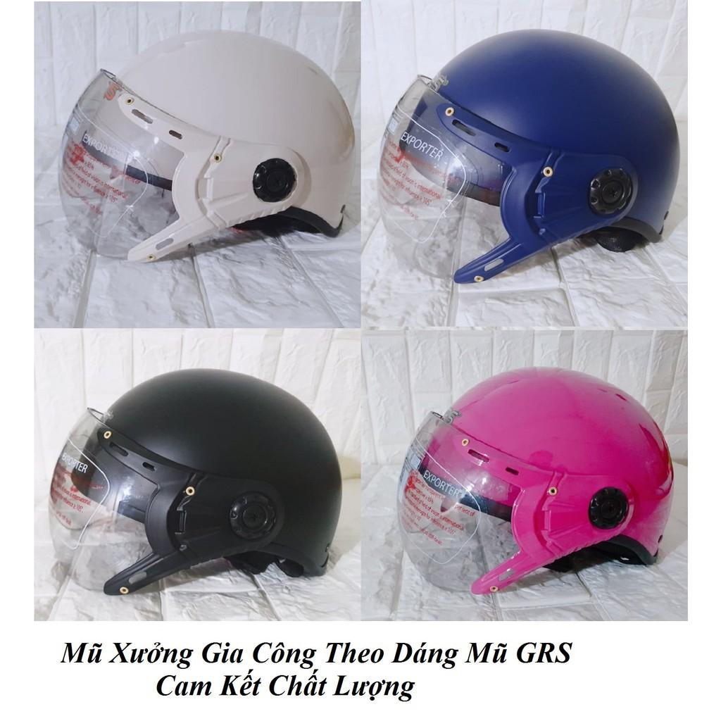Mũ Bảo Hiểm Xưởng Gia Công Dáng GRS- Hàng Chuẩn Nửa Đầu Cam Kết Chất Lượng