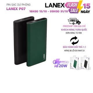 Pin dự phòng Lanex LPB - P07 1 cổng USB Type-C QC3.0 18W, 10000mah, màn hình led, tương thích nhiều thiết bị thumbnail