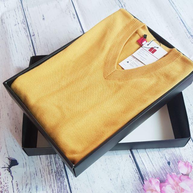 Áo len nam cổ tim cao cấp 9 màu