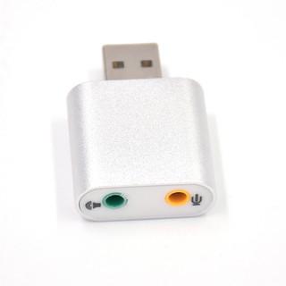 [Mã ELFLASH5 giảm 20K đơn 50K] Đầu USB Sound Card 7.1 vỏ nhôm cao cấp âm thanh 3D