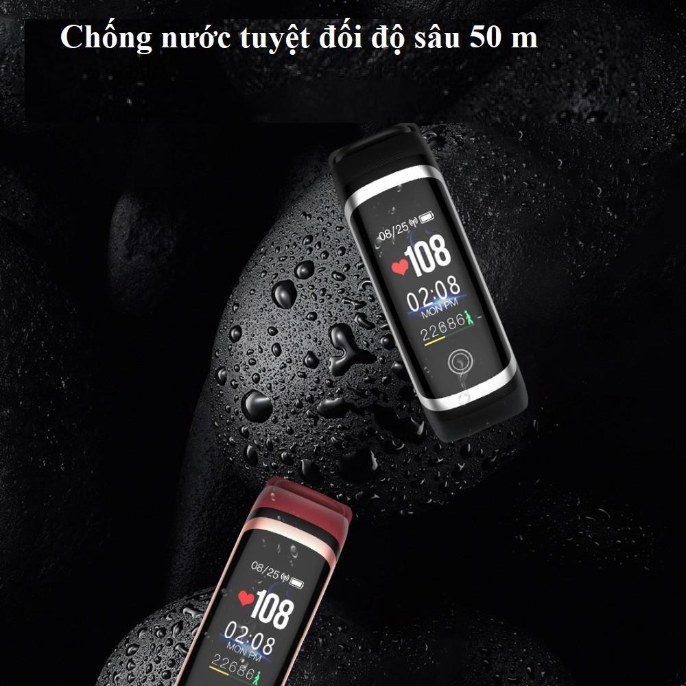 Vòng đeo M4 Band Chống nước 50m -  Báo tin nhắn, cuộc gọi - Chăm sóc sức khỏe,đo nhịp tim, huyết áp