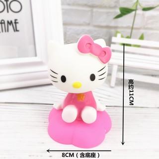 ✶❅Shake the head doll cartoon KT cat birthday cake decoration ornament scenario creative jingle machine big