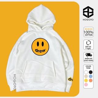 Áo nỉ Hoodie Drew house mặt cười Hogoto shop , áo nỉ bông hoodie unisex nam nữ