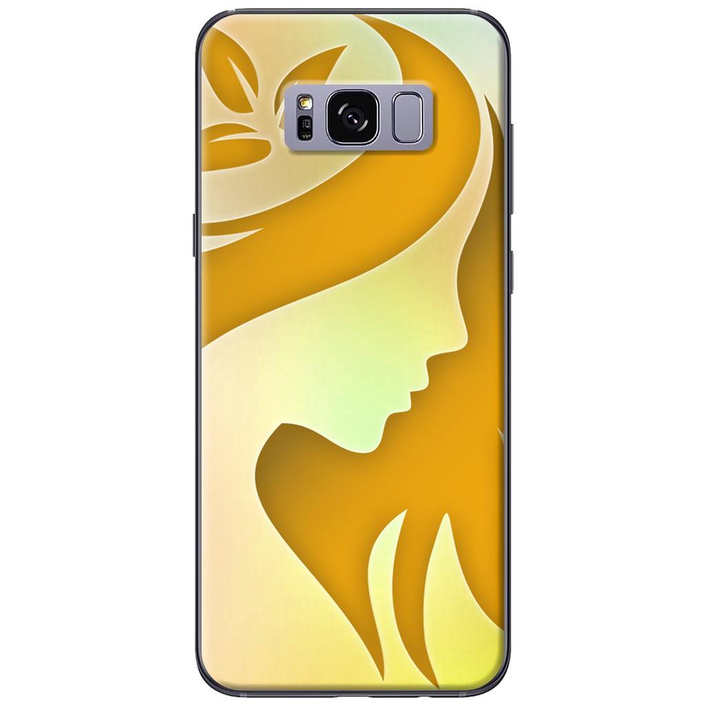 Ốp lưng Samsung S8/S8 plus - nhựa dẻo Cô gái nghệ thuật vàng