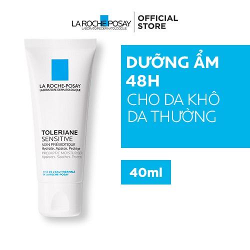 Kem dưỡng giúp cung cấp nước, làm dịu và bảo vệ da, dùng được cho da nhạy cảm La Roche-Posay Toleriane Skincare 40ml