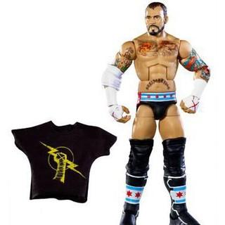 Mô hình đô vật mỹ wwe CM Punk Không Hộp Có Áo