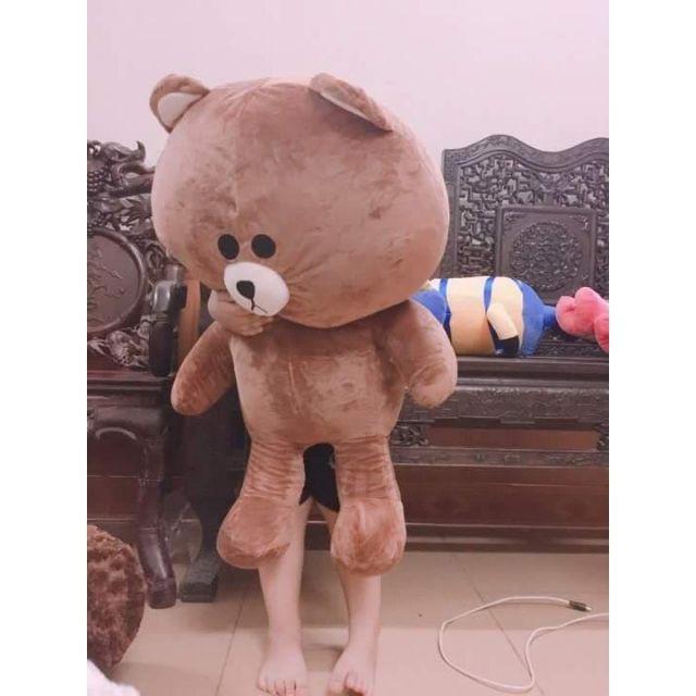 ( Rẻ Vô Địch) Gấu Brown khổ vải 1M1 loai 1 cao 95cm