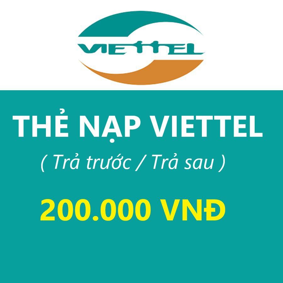 Thẻ Cào Viettel 200