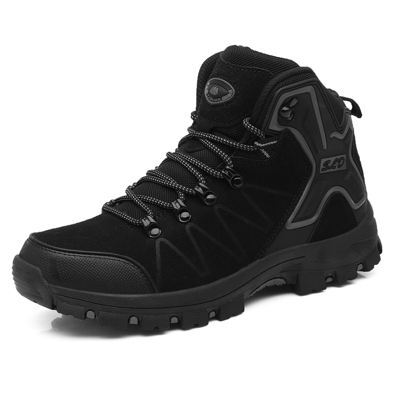 Couple Outdoor Hiking Shoes Comfortable Wearable Breathable High-top Shoes