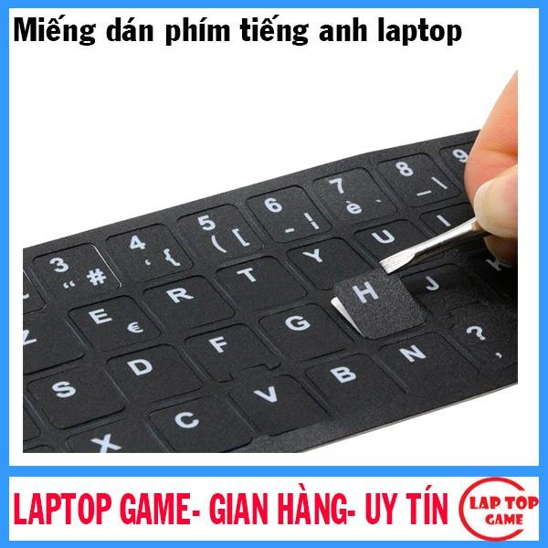 Miếng dán phím chữ ngôn ngữ Tiếng Anh cho laptop _chuẩn US-key miếng dán phím tiếng Anh