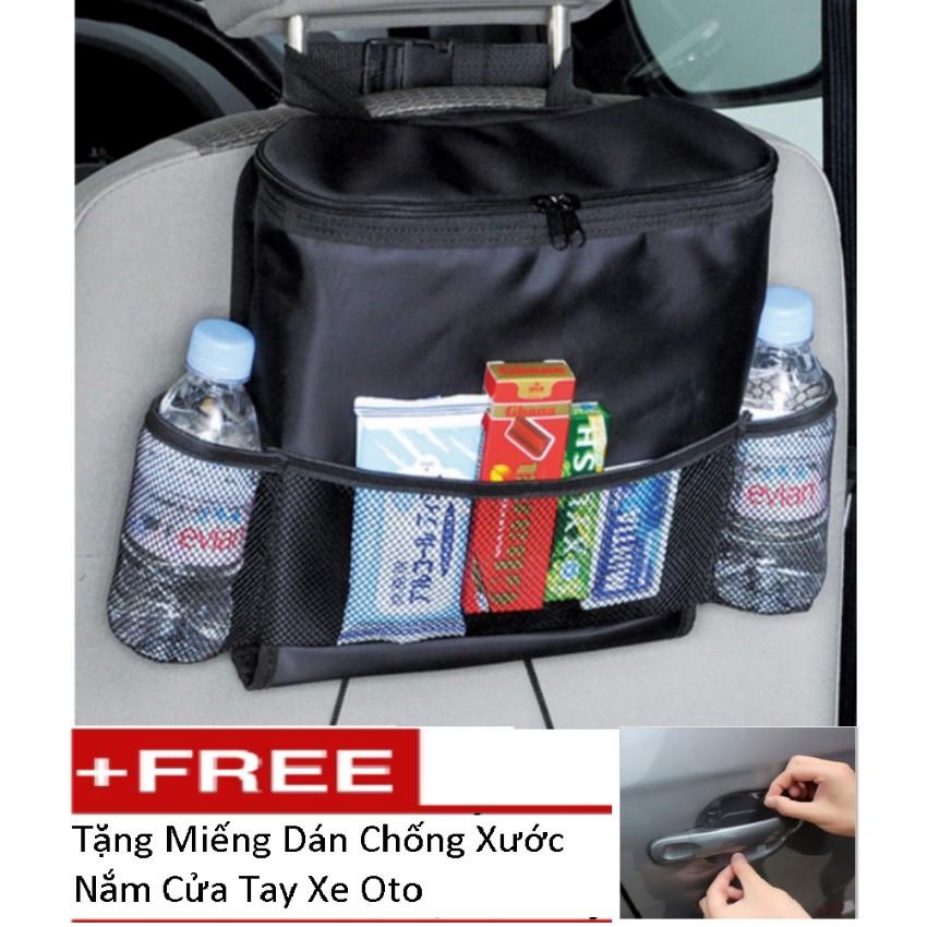 Túi Đựng Đồ Lạnh Du Lịch Trên Ôtô Tặng Kèm Bộ 4 Miếng Dán Chống Xước TL 066-239