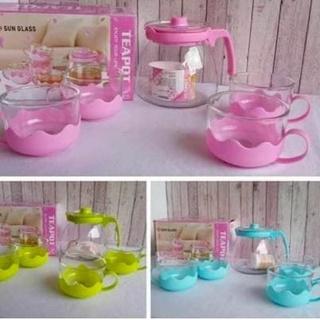Bộ dụng cụ pha trà 5 trong 1 gồm cốc uống trà và kính áp tròng đẹ thumbnail