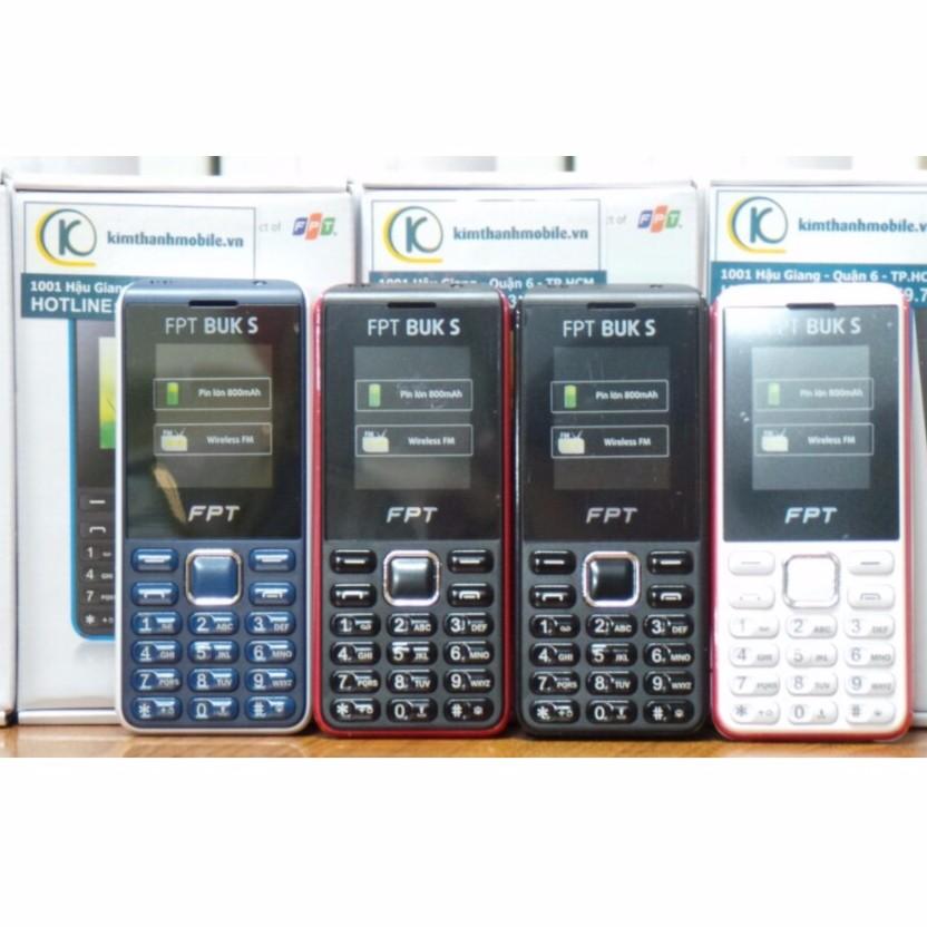 Điện thoại FPT Buk S Đen Đỏ - Chính Hãng