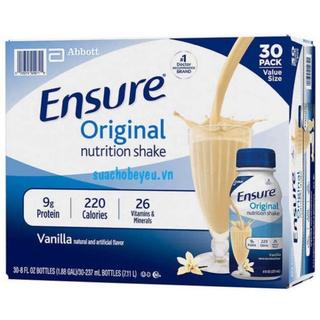 [Date 2022] Sữa nước Ensure Original thùng 30 chai USA