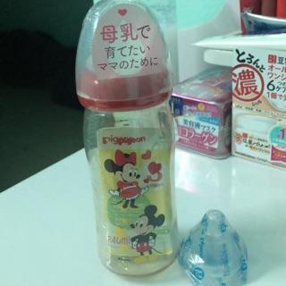 Combo bình sữa PIGEON nội địa nhật 240ml+núm ti pigeon size M