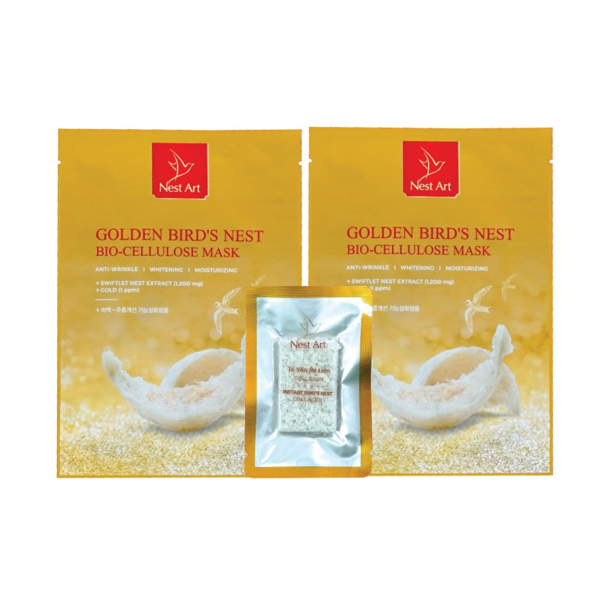 Combo 02 mặt nạ yến vàng và 01 Tổ yến ăn liền 5g - Nest Art - 13917549 , 2614591213 , 322_2614591213 , 640000 , Combo-02-mat-na-yen-vang-va-01-To-yen-an-lien-5g-Nest-Art-322_2614591213 , shopee.vn , Combo 02 mặt nạ yến vàng và 01 Tổ yến ăn liền 5g - Nest Art