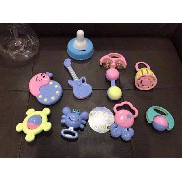 BÌNH SỮA XÚC XẮC Baby Toys 9 món