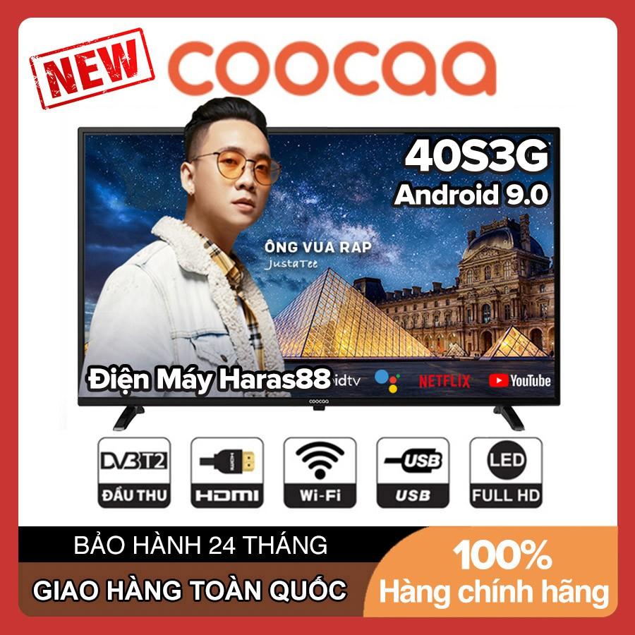 Smart Voice Tivi Coocaa 40 inch Full HD 40S3G Android 9.0, Clip TV, Wifi, DVB-T2, Tivi Giá Rẻ