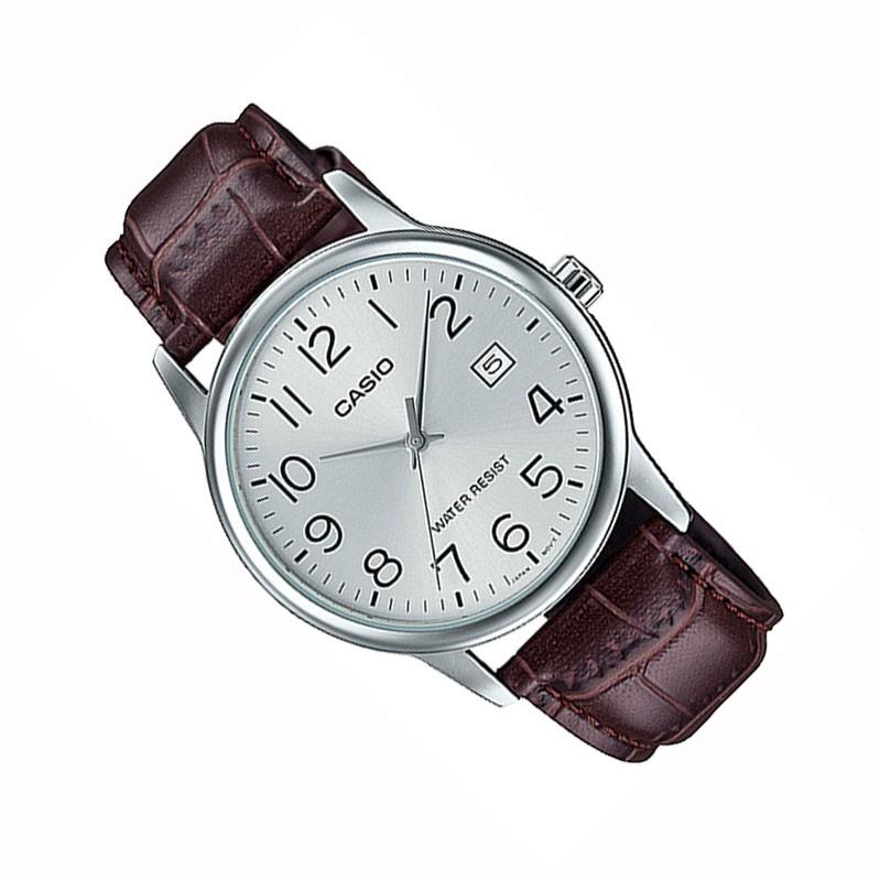 Đồng hồ nam dây da CASIO chính hãng MTP-V002, dây da