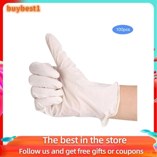 Buybest1 50Pair Disposable Rubber Inspection Gloves for Work Comfortable Elastic Protection Glove