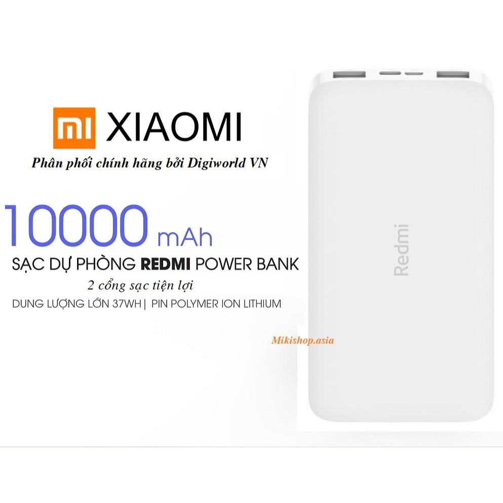 Sạc dự phòng Xiaomi Redmi 10.000 - Hãng phân phối chính thức