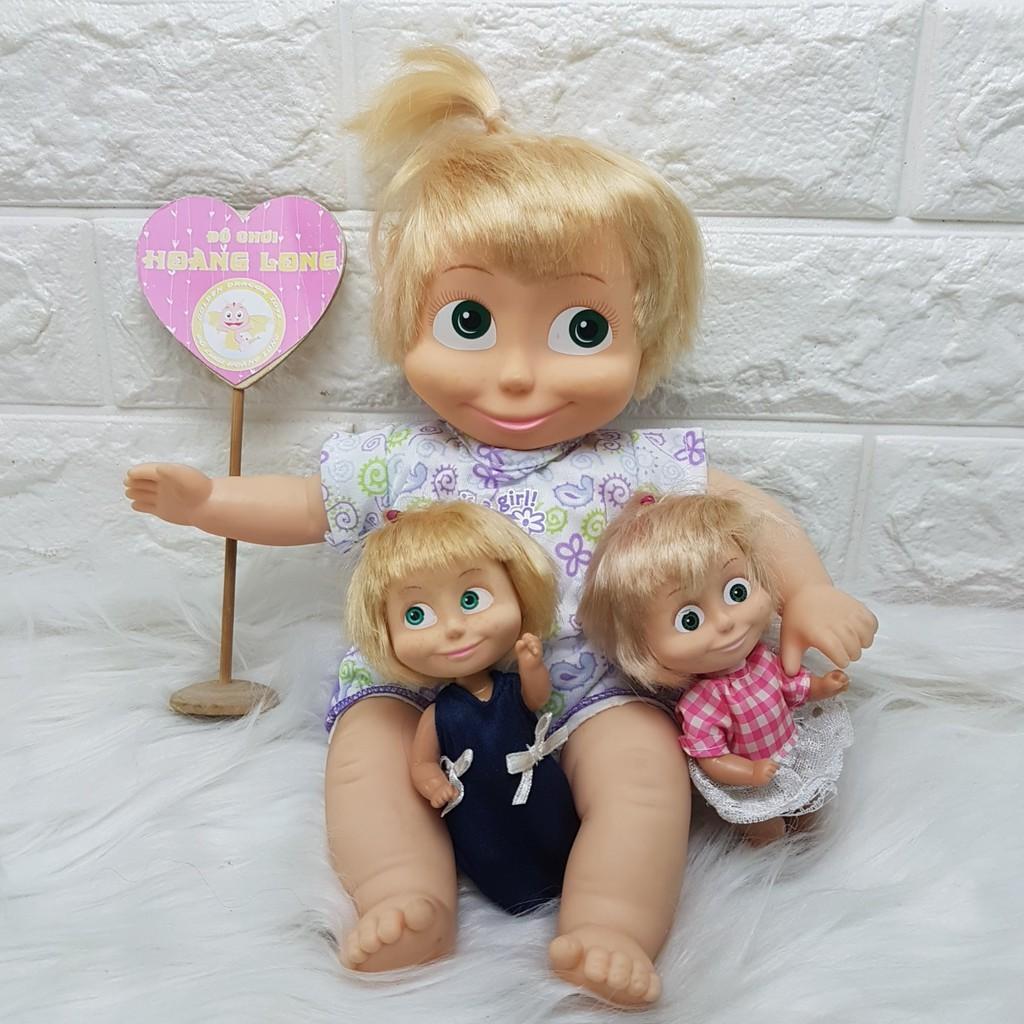Thanh lý tồn kho Búp bê Masha chính hãng Simba Toy 30 cm (thân gòn, quần áo ngẫu nhiên)