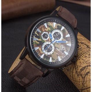 Đồng hồ nam YAZOLE 402 dây da chính hãng cao cấp Fullbox chống nước tốt AH483 thumbnail
