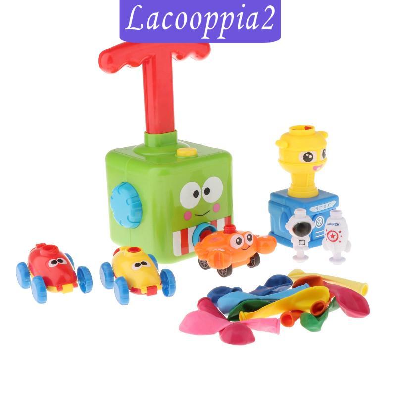 [LACOOPPIA2] Fun Inertia Balloon Powered Car Toys Aerodynamics Racer Car Kids Gifts Green
